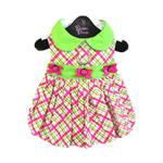 View Image 1 of Lady Bug Plaid Dog Dress by Doggie Design