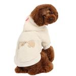 View Image 3 of Lavish Dog Hoodie by Pinkaholic - Ivory