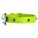 View Image 3 of Blue Petal Leather Dog Collar - Green