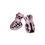 View Image 1 of Leopard Print Fashion Dog Boots - Pink