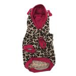 View Image 2 of Leopard Sequins Heart Dog Hoodie