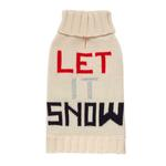 View Image 1 of Let it Snow Dog Sweater by Fab Dog - Navy