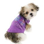View Image 3 of Let it Snow Penguins Rhinestone Dog Shirt - Purple
