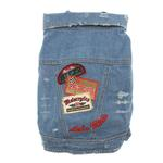View Image 1 of 'Let's Ride' Biker Denim Dog Jacket
