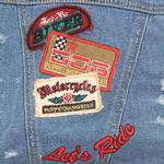 View Image 3 of 'Let's Ride' Biker Denim Dog Jacket
