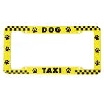 View Image 1 of License Plate Frame - Dog Taxi