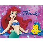 The Little Mermaid Party Supplies - Postcard Thank You Notes