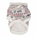 View Image 2 of Little Snow Dog Hoodie by Pinkaholic - Ivory
