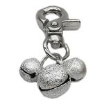 Lobster Claw Bell Collar Charm - Silver