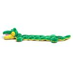 View Image 2 of Long Body Gator Squeaker Mat Dog Toy