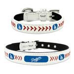Los Angeles Dodgers Leather Dog Collar