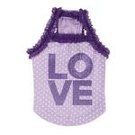 View Image 3 of Love Dog Shirt by Puppia - Light Violet