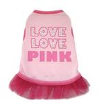 View Image 1 of Love Love Pink Dog Tank Dress