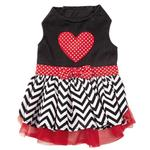View Image 1 of Love Me Chevron Dog Dress by East Side Collection
