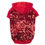 View Image 1 of Love Me Sequin Dog Pullover by East Side Collection - Red