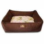 View Image 1 of Luca Lounge Dog Bed - Chocolate/Meadow
