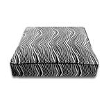View Image 1 of Luca Luxe Rectangle Dog Bed - Black Zebra