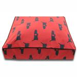 View Image 1 of Luca Luxe Rectangle Dog Bed - Funky Mutt