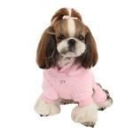 View Image 4 of Lullaby Hooded Dog Jumpsuit by Pinkaholic - Pink