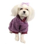 View Image 4 of Lullaby Hooded Dog Jumpsuit by Pinkaholic - Purple