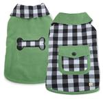 View Image 1 of M. Isaac Mizrahi Gingham Reversible Dog Coat