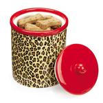 View Image 1 of M. Isaac Mizrahi Treat Canister - Leopard