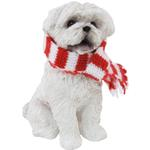 View Image 1 of Maltese Sitting with Scarf Christmas Ornament