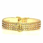 View Image 2 of Manhattan Crystal Dog Collar - Gold