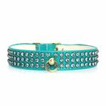View Image 3 of Manhattan Crystal Dog Collar - Turquoise