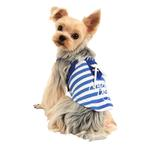 View Image 1 of Marine Dog Shirt by Puppia - Royal Blue