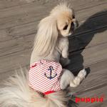 View Image 4 of Mariner Dog Sanitary Pants by Puppia - Red