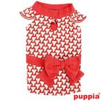 View Image 1 of Martina Dog Dress by Puppia - Red