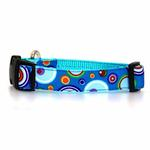View Image 1 of WaLk-e-Woo Martini Dog Collar - Blue