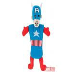 View Image 1 of Marvel Crinkle Bottle Stuffer Dog Toy - Captain America