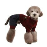 View Image 1 of Meek Dog Jumpsuit by Puppia - Wine