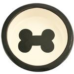 View Image 1 of Melia Bone Ceramic Pet Bowl - Black