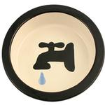 View Image 1 of Melia Water Tap Ceramic Pet Bowl - Black