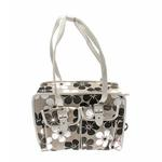 View Image 1 of Metro Slant Pocket Dog Tote - Neutral Floral