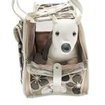 View Image 3 of Metro Slant Pocket Dog Tote - Neutral Floral