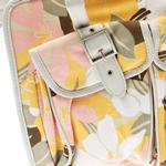 View Image 3 of Metro Slant Pocket Dog Tote - Pink/Yellow Floral