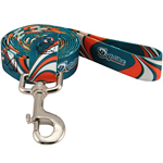 View Image 1 of Miami Dolphins Dog Leash - Dolphins