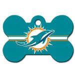 View Image 2 of Miami Dolphins Engravable Pet I.D. Tag - Bone