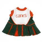 View Image 1 of Miami Hurricanes Cheerleader Dog Dress - Canes