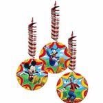 Mickey Mouse Party Supplies - Swirl Decorations