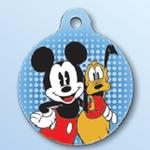 View Image 1 of Mickey Mouse and Pluto QR Code Pet ID Tag