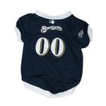 View Image 1 of Milwaukee Brewers Baseball Dog Jersey