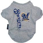 View Image 1 of Milwaukee Brewers Dog T-Shirt