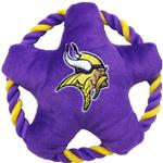 View Image 1 of Minnesota Vikings Rope Disc Dog Toy