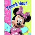 Minnie Mouse Party Supplies - Postcard Thank You Notes