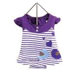 View Image 1 of Miss Lovebird Dog Dress - Purple